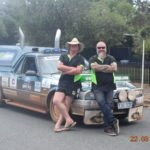 Darren Patterson and Quentin Tomkies. Riverina Redneck Rally 2017