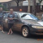 Jason Wharton and Linda Johnson. Riverina Redneck Rally 2017